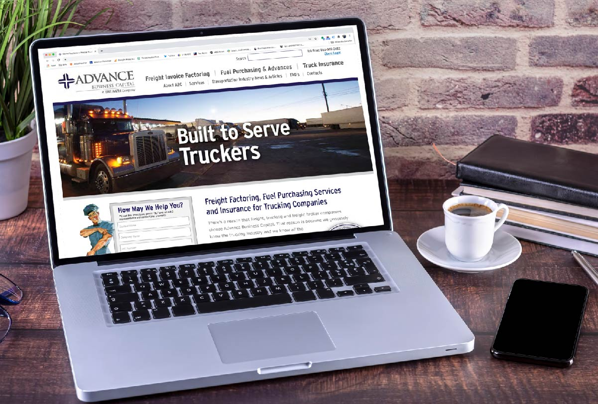 Triumph Business Capital website by 121 Marketing Company