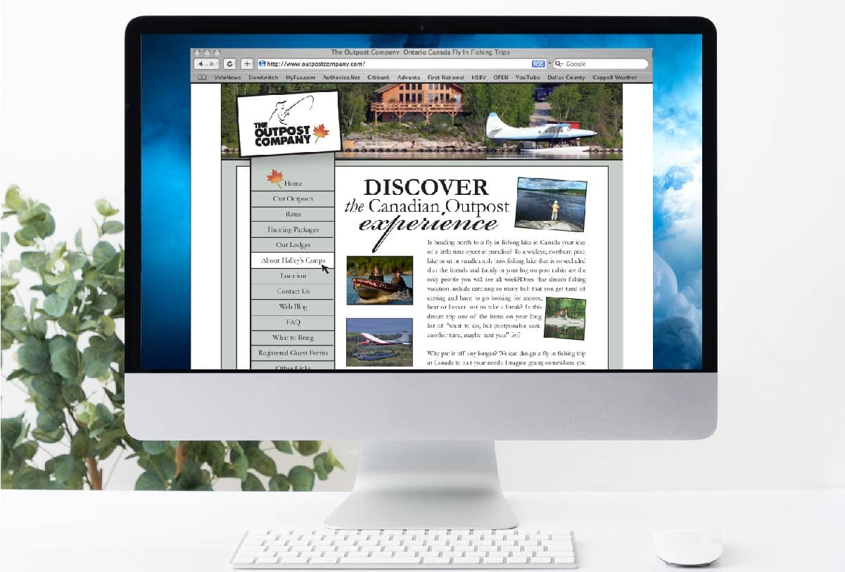 The Outpost Company website by 121 Marketing Company