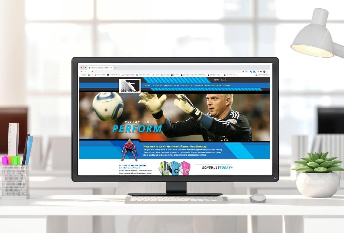 Kevin Harman website by 121 Marketing Company