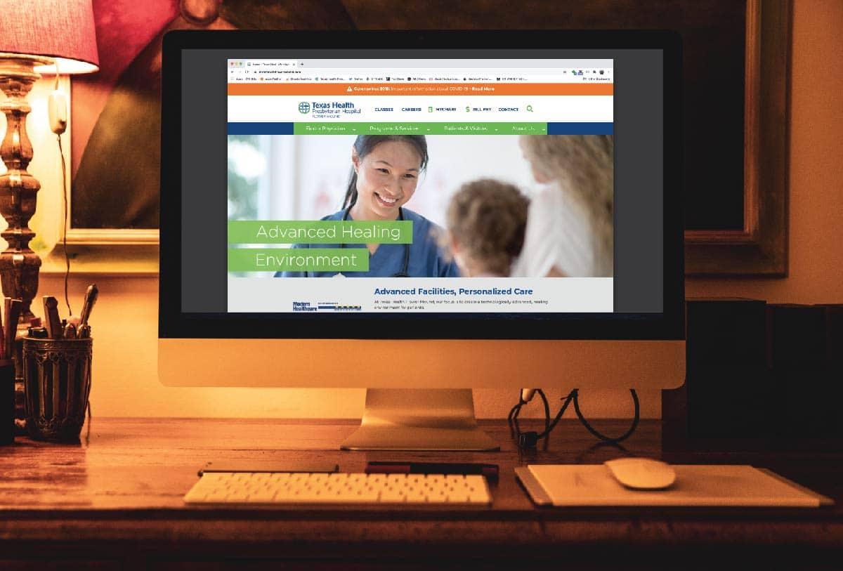 Texas Health website - 121 Marketing Company