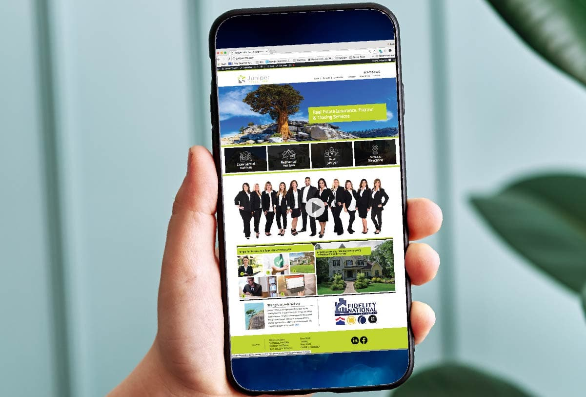 Juniper Title Website by 121 Marketing Company